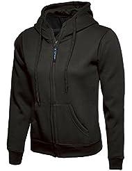 Uneek clothing - Sudadera con capucha - para hombre, Mujer, color negro, tamaño X-Small