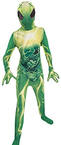 erdbeerloft - Jungen Außerirdischer, Alien Kostüm, Halloween, 134/140, Grün (Amazon Halloween-kostüme Für Kinder)