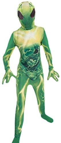 erdbeerloft - Jungen Außerirdischer, Alien Kostüm, Halloween, 116/122, (Alien Girl Kostüm Halloween)