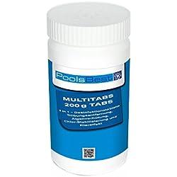 1 Kg - PoolsBest Chlor Multitabs 5in1, 200g Tabs