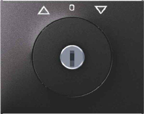 Abdeckung Drei Schalter Platte (Hager K1–Platte Schlüssel 3Position mit Sperren anthrazit)
