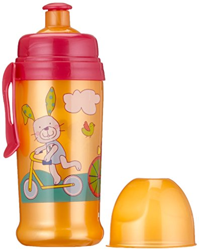 Rotho Babydesign 306290231BD Trinkflasche mit Push - Pull Aufsatz, raspberry / mandarin