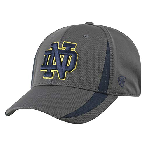 Top of the World NCAA Herren Performance Fitted Charcoal Triumph Icon Hat, Herren, NCAA Men's Performance Fitted Charcoal Triumph Icon Hat, Notre Dame Fighting Irish Charcoal, Einstellbar - Notre-dame-fitted Cap