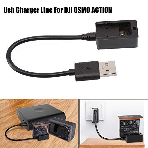 Hubschrauber,TwoCC Ladegerät USB Smart Schnell Aufladen für DJI Action Kamera Akku Aufladen