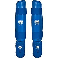 Venum de pies para espinilleras, Todo el año, Unisex, Color Azul - Azul, tamaño Large