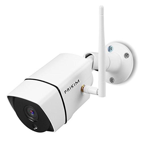 Galleria fotografica PRIKIM 960P Macchina fotografica del IP Camera incorporata TF card slot, visione notturna allarme di rilevazione di movimento per il sistema domestico di sorveglianza, Windows, iOS, Android supportato