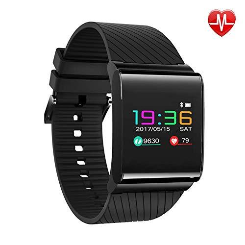 COLOM Bluetooth Impermeable Fitness ttracker para las Mujeres,Pulso Monitor de presión arterial Podómetro Elegante reloj de Banda de características de deportes Android IOS-Negro