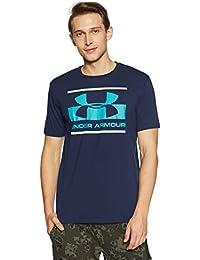 Under Armour Blocked Sportstyle Logo Camiseta de Manga Corta, Hombre, Azul (408), M