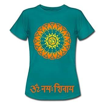 Yoga OM Namah Shivaya Frauen T-Shirt von Spreadshirt®, S, Divablau