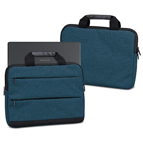 UC-Express Laptop Tasche für Medion Akoya E6246 Notebook Hülle Netbook Schutzhülle Sleeve Universal 15.6 Zoll Schutz Hülle Case Laptophülle Cover Innenmasse 37,5 x 26 x 3 cm, Farbe:Blau