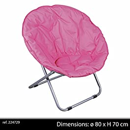 Fauteuil Pliant Vert LOVEUSE Chaise Tissu Design Salon Camping