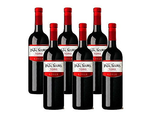 Pata Negra Toro Roble Vino Tinto - 6 Botellas X 750 Ml - Total: 4500 Ml