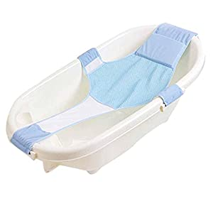 Baby Bath Seat Non-Slip Newborn Baby Bathtub Seat, Adjustable Versatile Newborn Baby Bath Seat Support Net Bathtub Sling Shower Mesh Bathing Cradle Rings for Tub, Keep Baby Safe