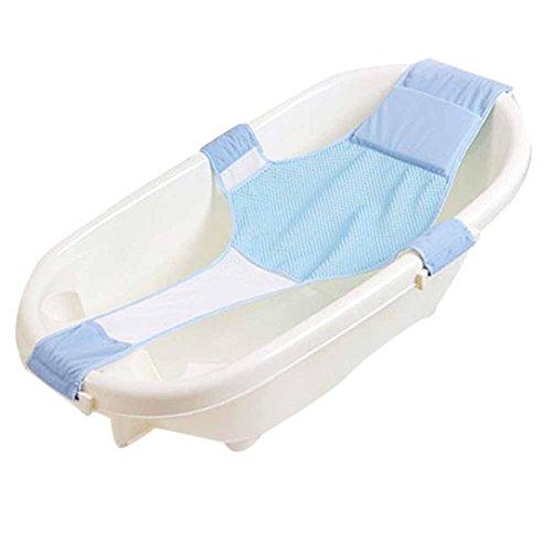 Baby Badesitz rutschfest Neugeborene Baby Badewanne Sitz, verstellbare vielseitig Neugeborene Baby Badesitz Stütznetz Badewanne Sling Dusche Mesh Baden Wiege Ringe für Badewanne, Halten Baby Safe