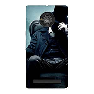 Premium Sitting Hat Man Back Case Cover for Yu Yuphoria