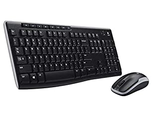 Logitech MK270 - Pack de Teclado y ratón (2.4 GHz, inalámbrico, USB), Color Negro - Teclado QWERTY Italiano (B00D2PX8C2) | Amazon price tracker / tracking, Amazon price history charts, Amazon price watches, Amazon price drop alerts