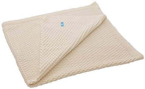 Wallaboo Baby Blanket Eden, 100% Organic Cotton, For Pram, Car Seat, Moses Basket, Crib, Size 90 x 70 cm, Color: Ivory Cream