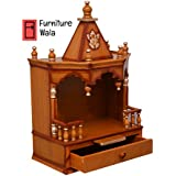 Furniture Wala Wooden Home Temple/puja mandir/Wooden Temple/Temple for Home/puja ghar/Temple/Wall Hanging