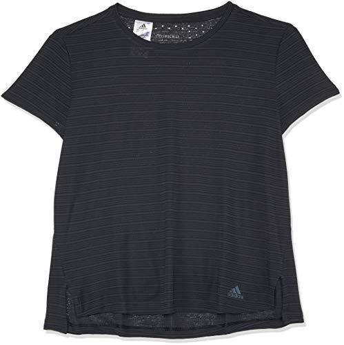 Adidas Gestreiftes T-shirt (adidas Damen Freelift Chill T-Shirt, Carbon, L)