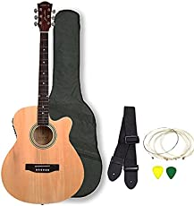Kadence Frontier Series Acoustic Guitar Natural (With Equalizer and Pickup) Combo with Bag,strap,strings and 3 picks