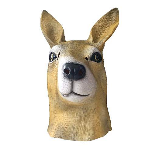 YaPin Neuheit Känguru Maske Australische Känguru Maske Halloween Lustige Realistische Tierhaube Maske