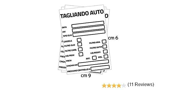SGMStore Adesivi Tagliando Auto Cambio Olio Etichetta Adesivo in PVC Impermeabile 100