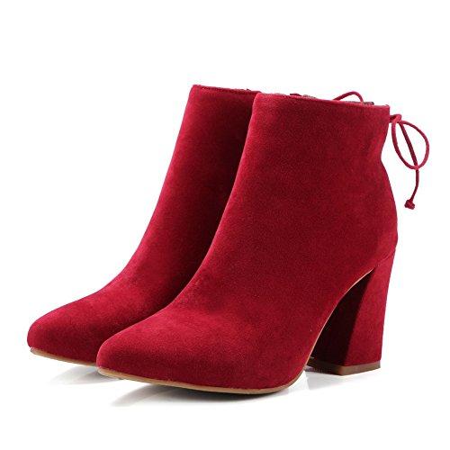 Balamasaabl09818 - Sandales Compensées Pour Femmes Rouge