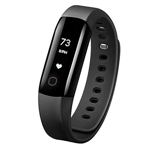 Mpow Montre Connectée Bracelet Connecté Fitness Tracker d'Activité Étanche IP68 pour Natation, Moniteur Intelligent de Fréquence Cardiaque, Podomètre, Charge Rapide, Android iOS, Homme Femme Enfant