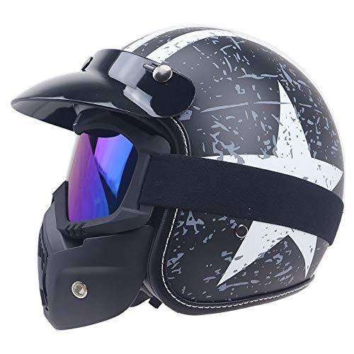 Casco Moto Abierto Táctico Máscara Sol Universal