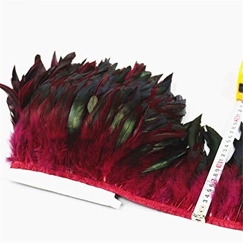 SHFives 1 Meter natürliche hahn Schwanz Feder schneidet Band Dress Rock Fringe Clothing fasanenfedern für Handwerk schmuck Machen Plumas, lila - Machen Feder Schwanz Kostüm