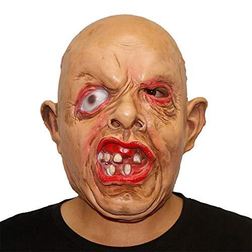 OOBY Halloween Horror Grimasse Maske Teufel Latex Clown Maske Perücke, Spaß Für Halloween-Events Und Partys.