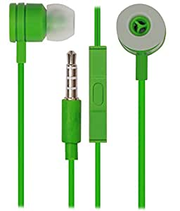 Jkobi In Ear Bud Earphones Mini Size Handsfree Headset with Mic For Samsung Galaxy S Duos 2 7562 with 3.5mm Jack-Green