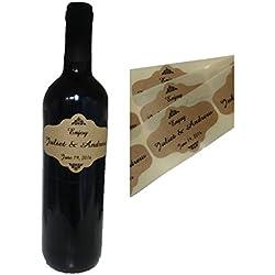 TODOKRAFT 80 étiquettes personnalisées de Bouteille de vin