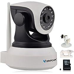 Vstarcam C7824WIP 720P WIFI IP Kamera Sicherheitskamera für den Innenbereich mit Lan und WLAN / Wifi ( IR LED Infrarot Nachtsicht, PIR Wärmesensor, Weitwinkel, Mini SD Karte, Aufnahme, Bewegungserkennung, Audio) (Inklusive 32G Gewidmet Speicherkarte + Zusätzliches Kamera-Unterstützung)