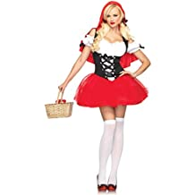 Leg Avenue - Disfraz de Caperucita Roja para mujer, talla