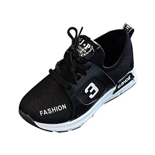 FNKDOR Kinder Schuhe Sneaker 20-29 Turnschuhe Mädchen Jungen Leuchtschuhe Sportschuh(24 EU(25CN) 15CM,Schwarz) (3-tier-15-licht)