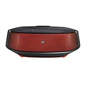 JBL On Beat Rumble Wireless Speaker Docking Station with Subwoofer, Lightning Connector and UK/EU Mains Adapter - Black