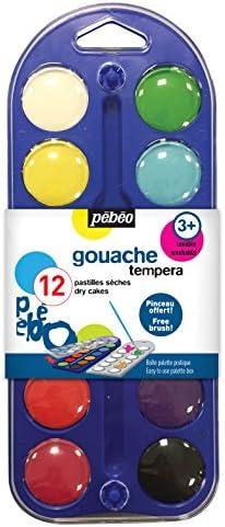835ce6c302b6 Pébéo de Boîte de Pébéo 12 Pastilles de gouache + Pinceau Couleurs  Assorties B010AHFZHA 274794