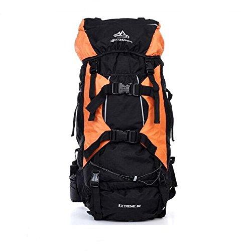 80L OUTDOOR Rucksack Extra Laden Tasche Wandern Camping Reise orange