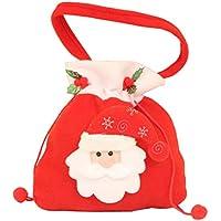 6c2d9abc8ec Topdo 1 Pieza Bolsa de Regalo Navidad con Cajas de Tela no Tejida Cuerda  Atado Papá Noel Lindo Portátil Gift Bag para Navidad Fiesta de Boda Bolsas  de ...