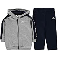 adidas Unisex Baby I 3 Stripes Full Zip Hooded Fleece Trainingsanzug