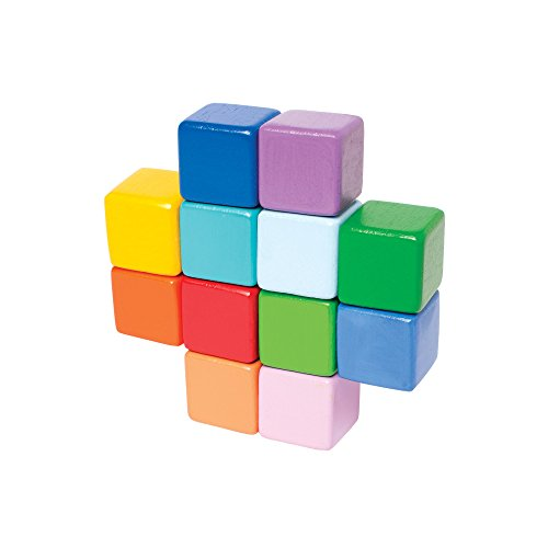 Manhattan Toy - Hochet cubes coloré - Bois massif - 214860