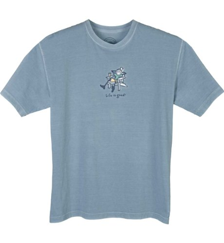 Life is Good Herren Adirondack Short Sleeve Tee, Herren, Impala (Jake Shirt Sleeve Short)