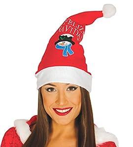 Guirca- Gorro Papa Noel Feliz Navidad, Color rojo, talla única (41563.0)