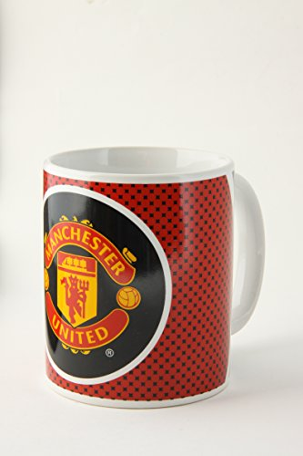 Manchester United F.C. Manchester United FC Official Bullseye Ceramic Football Crest Mug (One Size) (Red/Black/White)