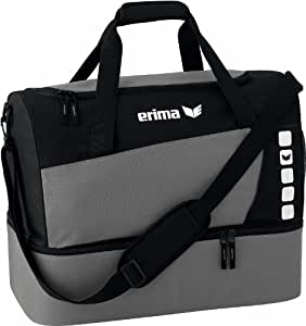 Erima Sports Bag with Bottom Compartment, 49.5Litres grey granite Size:M