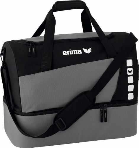 erima Sporttasche mit Bodenfach, Granit/Schwarz, L, 76 Liter, 723339