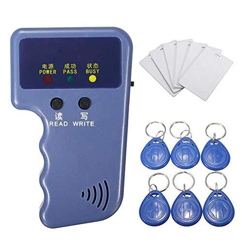 Dastrues Handheld RFID ID Card Copier Reader Writer 6 Schreibetiketten 125Khz Durable ABS