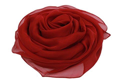 MEISHINE® 180 * 110cm Mujer 100% Seda Fular Pañuelo