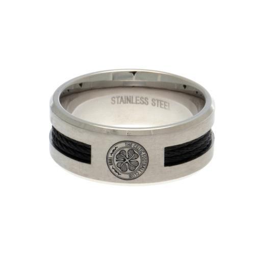 Celtic F.C. Black inlay anello grande